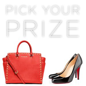 Winner's choice! Enter to win a brand new Michael Kors bag or iconic Christian Louboutin pumps from Wantable and Cut and Blow. Which will you choose?!