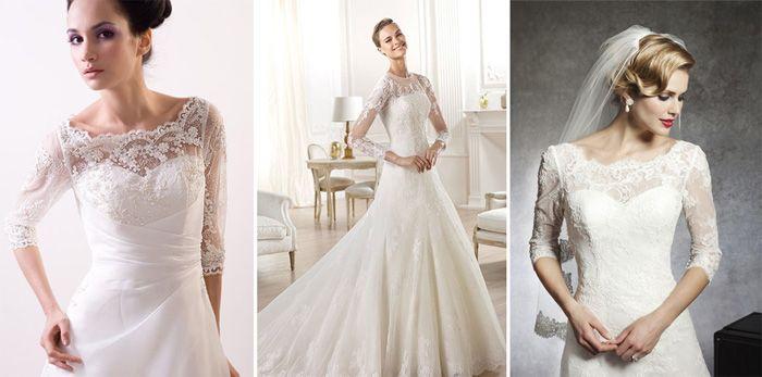 Свадебные наряды с закрытым кружевным верхом