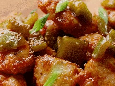 Sweet And Sour Chicken - very good! Use less vinegar and add corn starch/water to thicken at the end. We all liked this a lot!