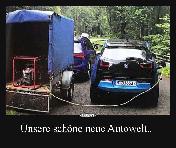 Unsere schöne neue Autowelt.. | Lustige Bilder, Sprüche, Witze, echt lustig