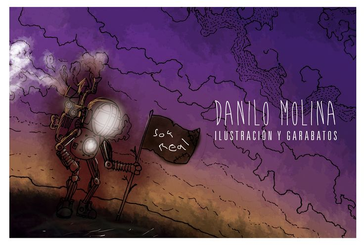 "Danilo Molina on Behance  Avance de ilustración digital en proceso. #ilustration #concept #robot #space #soul #digital #machine ""Soy Real"" on Behance"