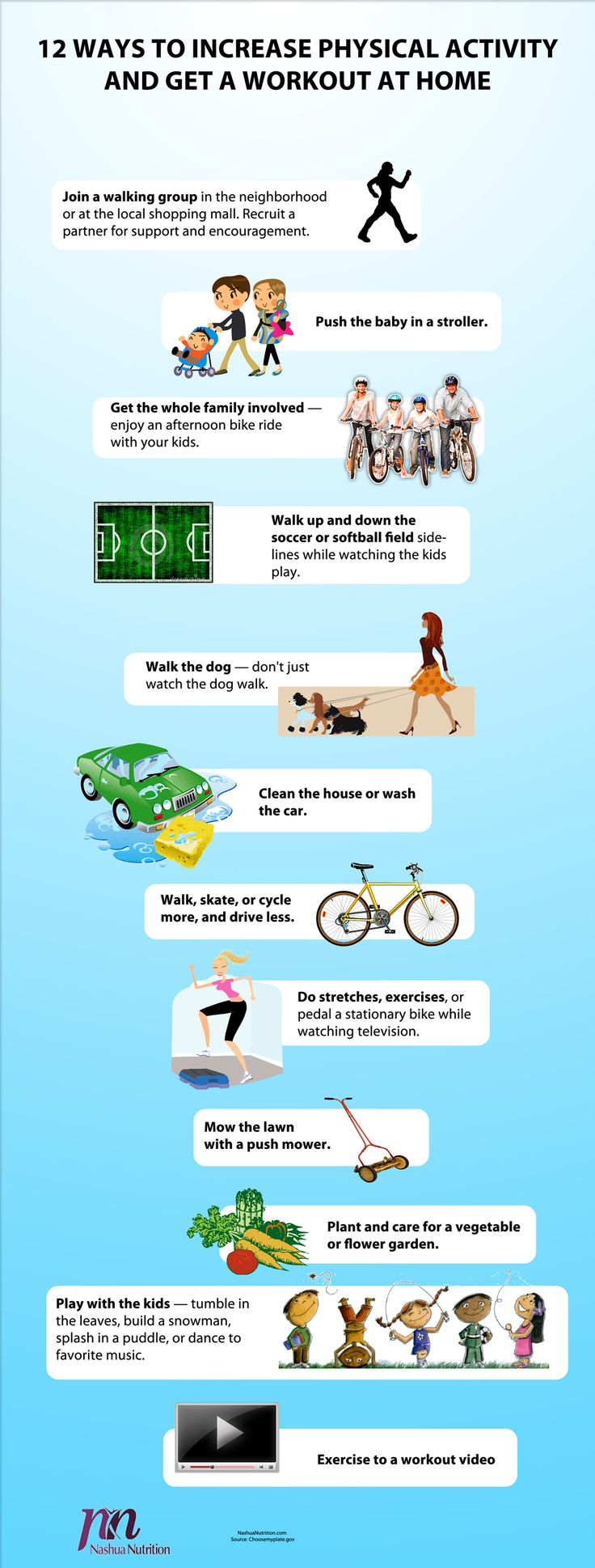 12 Ways to Get a Good Workout at Home – Infographic