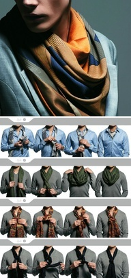 I don't think I like men in fashion scarves. No. Definitely not. Now that that's decided...