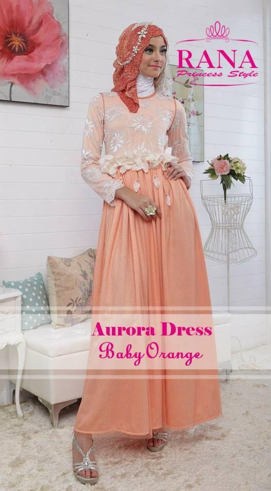 Aurora Dress Baby Orange