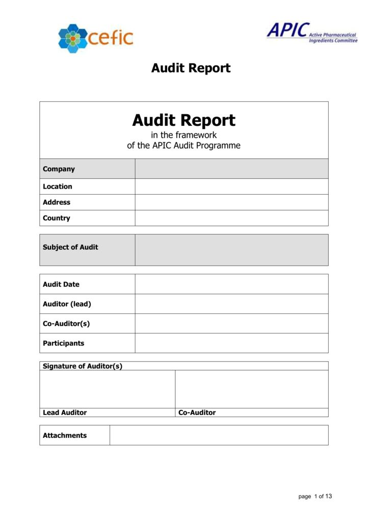 Gmp Audit Report Template 3 Templates Example Templates