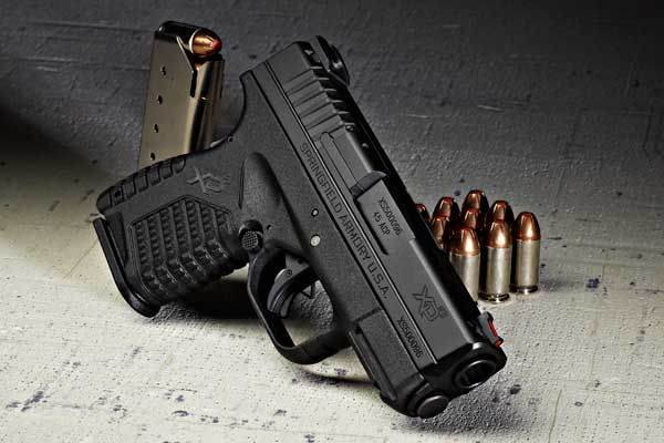 "Springfield-XDS, single stack .45 ACP that is only 1"" wide."