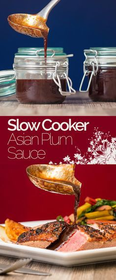 Asian Plum Sauce is so easy to make in the slow cooker it seems silly to buy it and is perfect with duck or even spread onto a pork sandwich