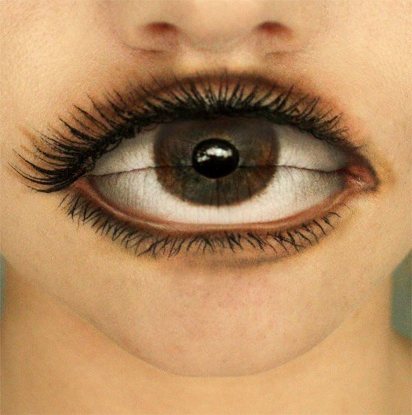 Makeup for Halloween. This is neat if you want to be festive but don't want to dress up.