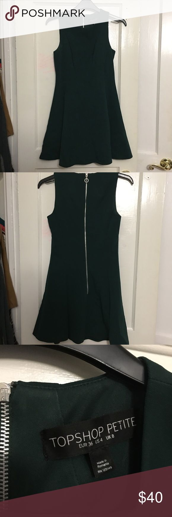 Topshop dress Dark green petite dress from ASOS. Worn once! Topshop PETITE Dresses