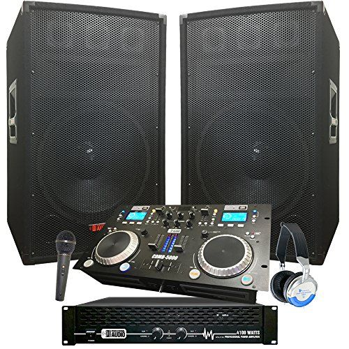 "Rock The House DJ System - 4100 WATT DJ System - Connect your Laptop, iPod, USB, MP3's or Cd's! 15"" Speakers, Amp, Mixer/Cd Player, Mic, Headphones. - http://djequipment.nationalsales.com/rock-the-house-dj-system-4100-watt-dj-system-connect-your-laptop-ipod-usb-mp3s-or-cds-15-speakers-amp-mixercd-player-mic-headphones/"