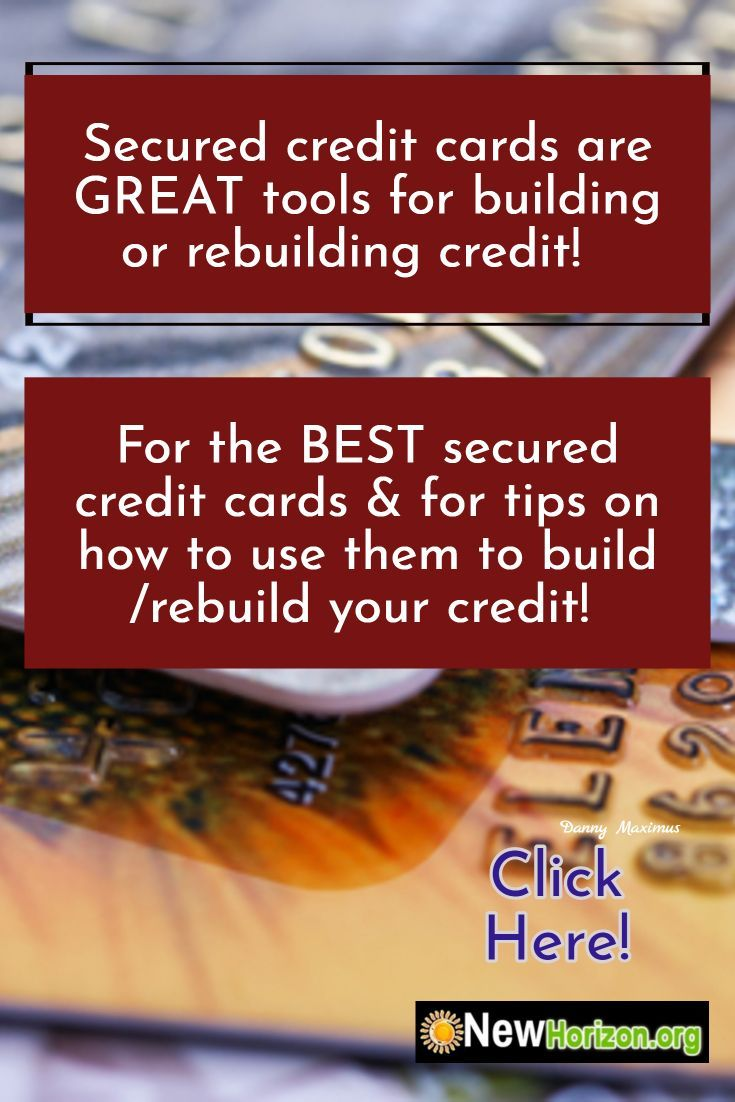 secured credit cards help you to build or rebuild your credit. these