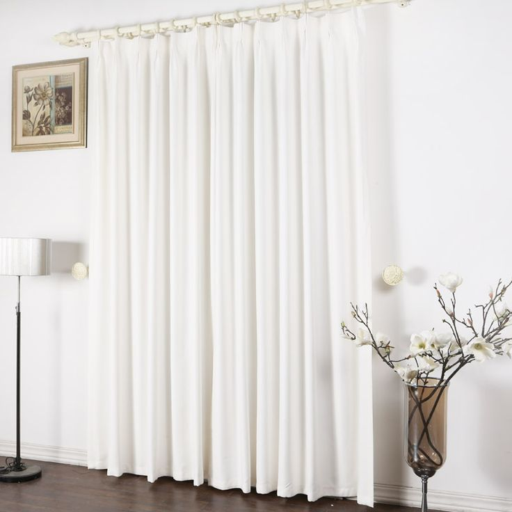 Pure White Concise Blackout Curtains For Fancy Moment