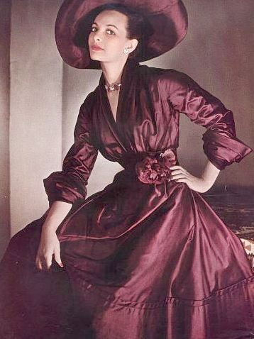 Dress by Dior, photo by Philippe Pottier, 1948