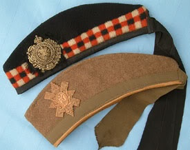 Khaki glengarry of the Canadian Black Watch