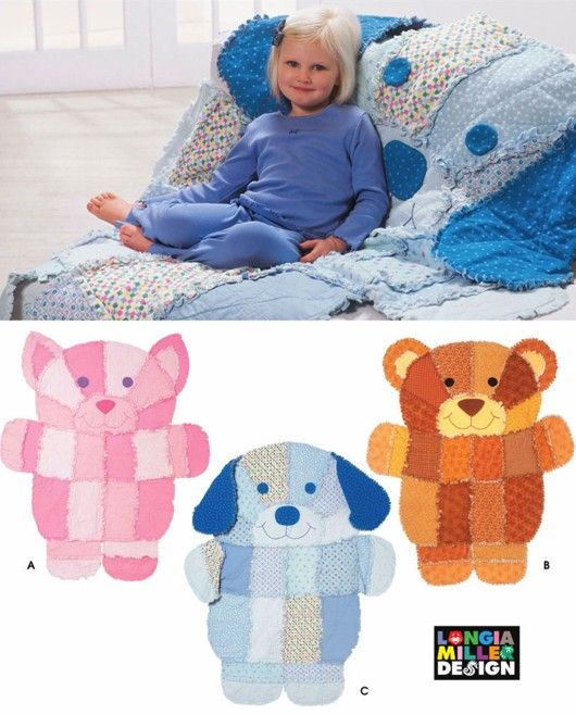 RAG QUILT Sewing Pattern  DOG CAT TEDDY BEAR by patterns4you