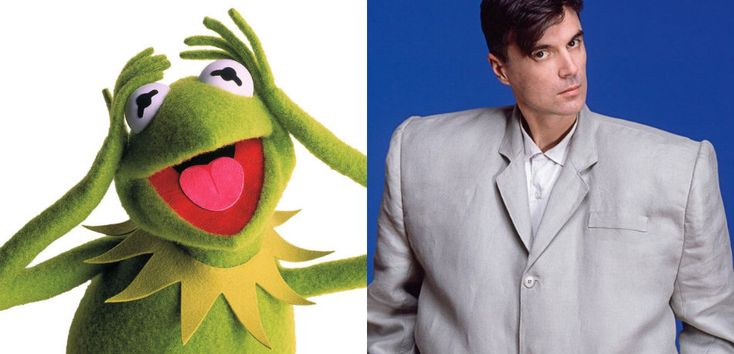 "Here's Kermit the Frog covering ""Once in a Lifetime,"" wearing the David Byrne oversized suit from Stop Making Sense and faithfully reproducing Byrne's spastic movements from the video.   I can't decide if Kermit's endlessly reasonable (never truly frantic) voice actually fits this material—does it matter?—but it's a hoot either way. This appeared on Muppets Tonight in 1996, and the voice of Kermit is provided by Steve Whitmire in this instance.  And it leads into a perfect Statler & ..."