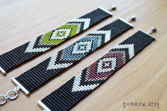 Métier à tisser Bracelet de perles / / métier à tisser par Gomeow