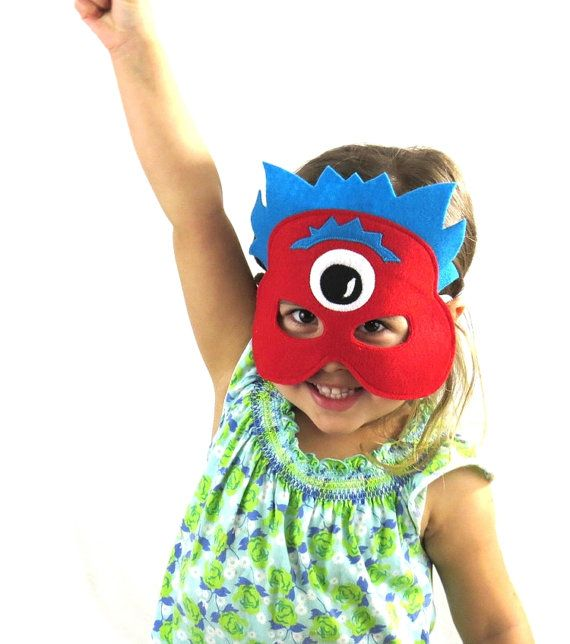 Kid's Masks Aliens/ Monsters Make Believe by MoonlightMakers