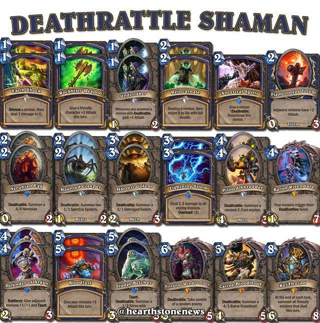 #hearthstone Deathrattle Shaman