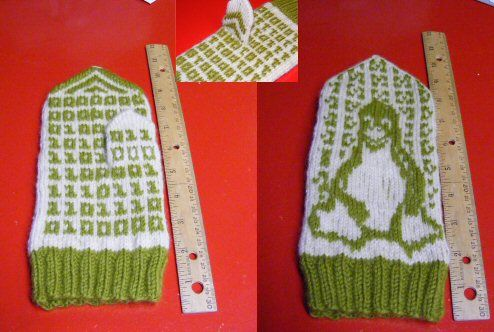 Geek Mitten 1 by flibbertigibbetbunny, via Flickr