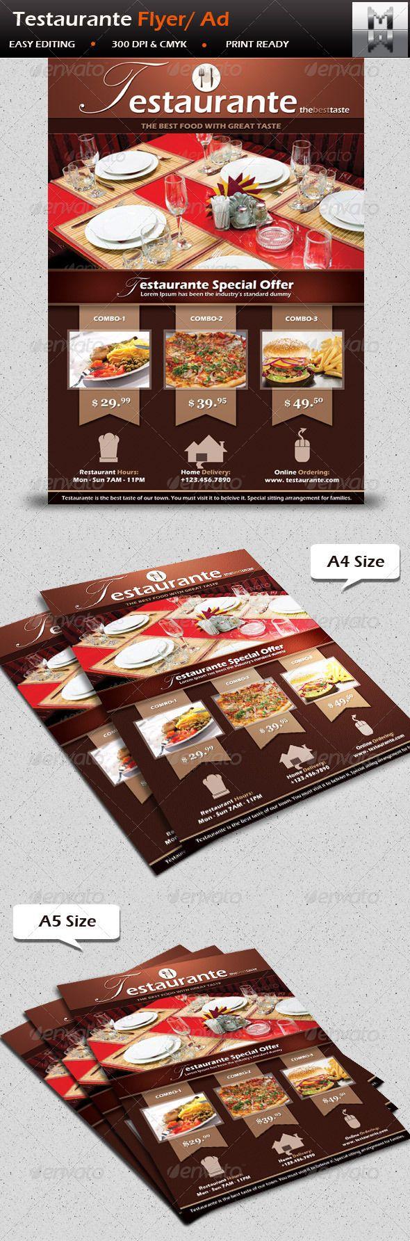 17 best images about flyers restaurant nightclub testaurante restaurant menu offer flyer