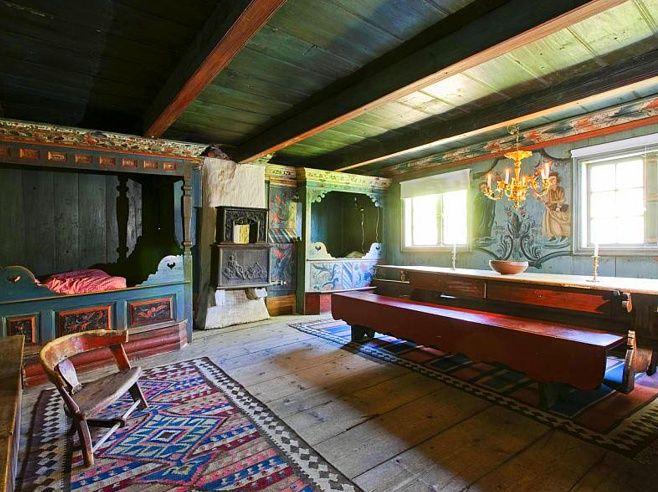Норвежские и шведские интерьеры 18-19 веков: affresco