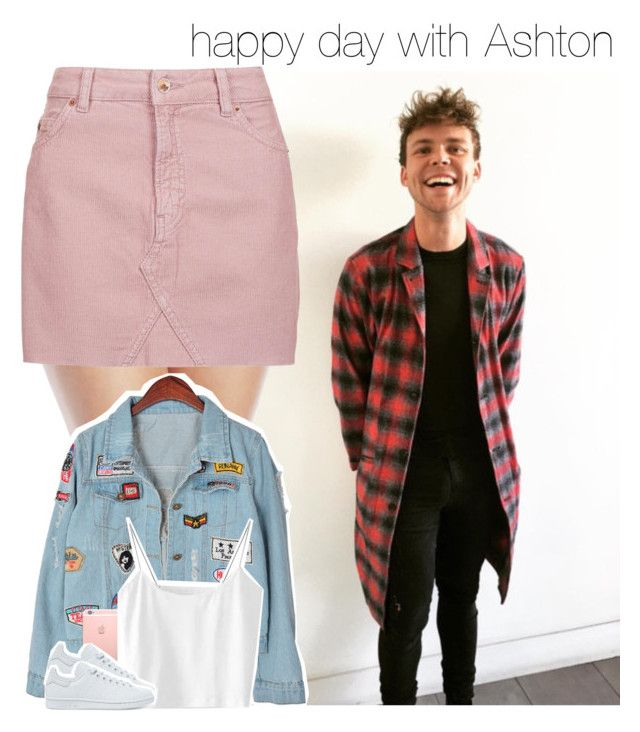 """""""happy day with Ashton"""" by dipx1d ❤ liked on Polyvore featuring Millesia, Topshop, Chicnova Fashion and adidas Originals"""