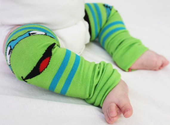 Baby To Toddler Ninja Turtle Baby Leg Warmers By GigglePoo On Etsy, $15.00
