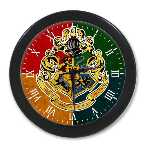 Home Decor Hogwarts School Logo 9.56 Inch Modern Quartz Design Wall Clock