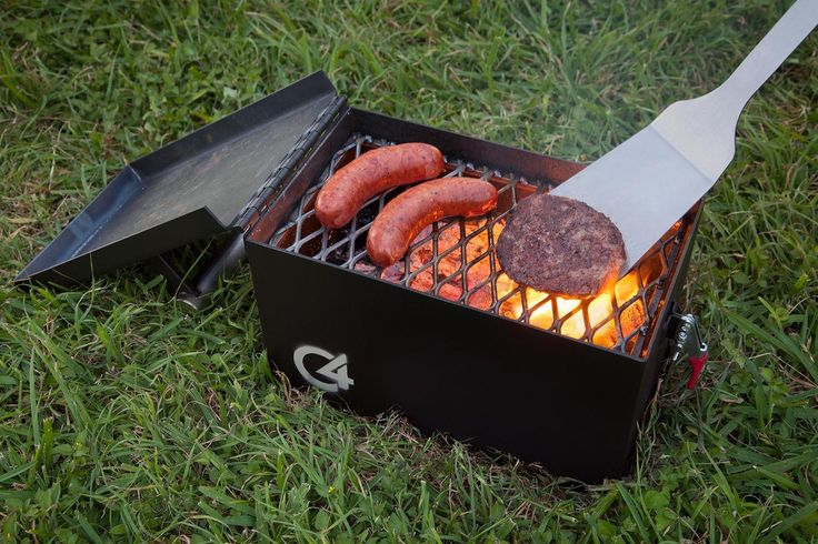 Straight out of Mesquite, Texas comes the statement-making C4 Portable Grill from M Grills.  Modeled after an ammo box, it's built like a tank and made from 12 gauge steel with a solid 304 stainless steel handle and 304 stainless steel hinges.  Perfect for camping, fishing and tailgating, it also doubles as a portable fire pit for when the temperature drops.  Available now for $120 in black or forest green.