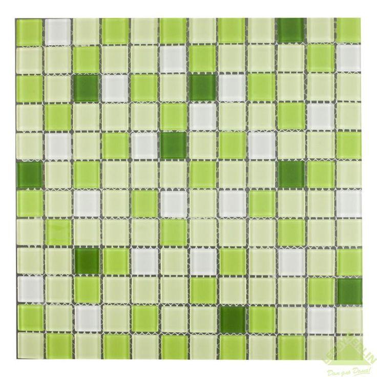 Мозаика стеклянная Artens, светло-зеленая, 300х300х4 мм, Мозаика - Каталог Леруа Мерлен