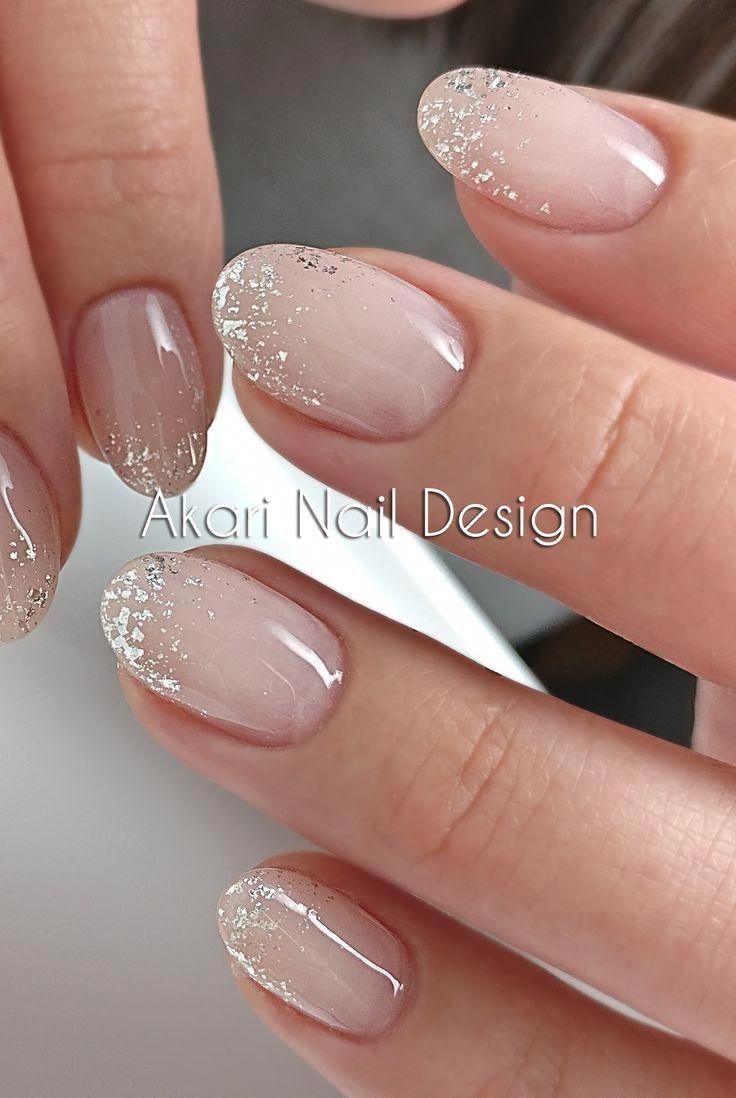 Akari Nail Design Foto Weddingnails Nailsnude In 2020 Bride Nails Gold Nail Art Nail Art Wedding