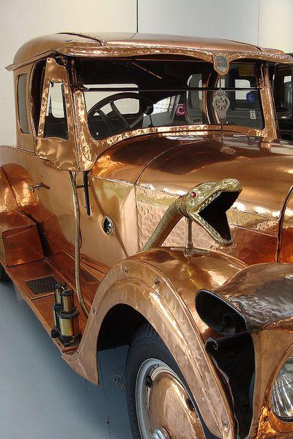 Southward Vintage Car Museum, New Zealand.  Copper car by Home Land & Sea, via Flickr