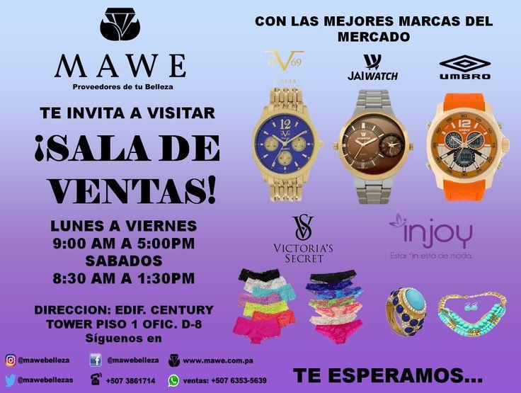 Mawe Panama te invita a visitar nuestra Sala de Ventas, estamos en el Century Tower, piso 1 oficina D-8, de lunes a viernes de 9.00 am a 5:00 pm y sábados de 8.30 am a 1:30 pm   #INJOY #mawe #panama #carteras #bolsos #collares #llaveros #anillos #bisuteria #zarcillos #pulseras