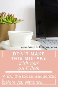 dont make this mistake with your 401k plan| If you are considering taking out of your 401k read this first to see how it will effect you at tax time. It includes the implications from doing a 401k withdrawal.