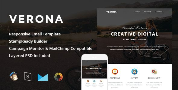 nice Verona - Responsive Email + StampReady Builder Check more at http://www.freethemeslib.com/verona-responsive-email-stampready-builder/