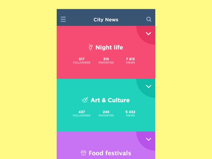 Mobile Navigation Inspiration – Muzli -Design Inspiration