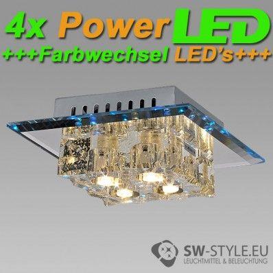 013-4C Deckenleuchte Wandleuchte inklusive POWER LED und LED Farbwechsel