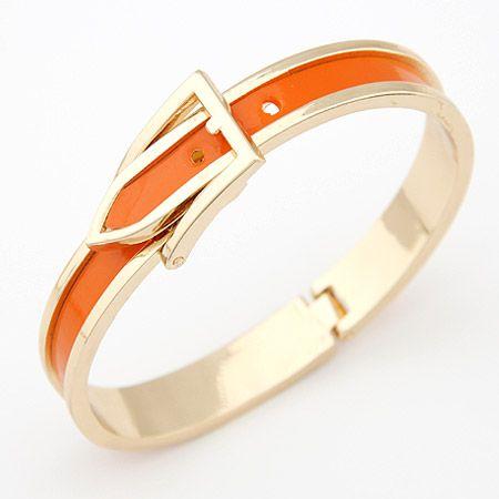 orange/gold bracelet www.lavaii.pl