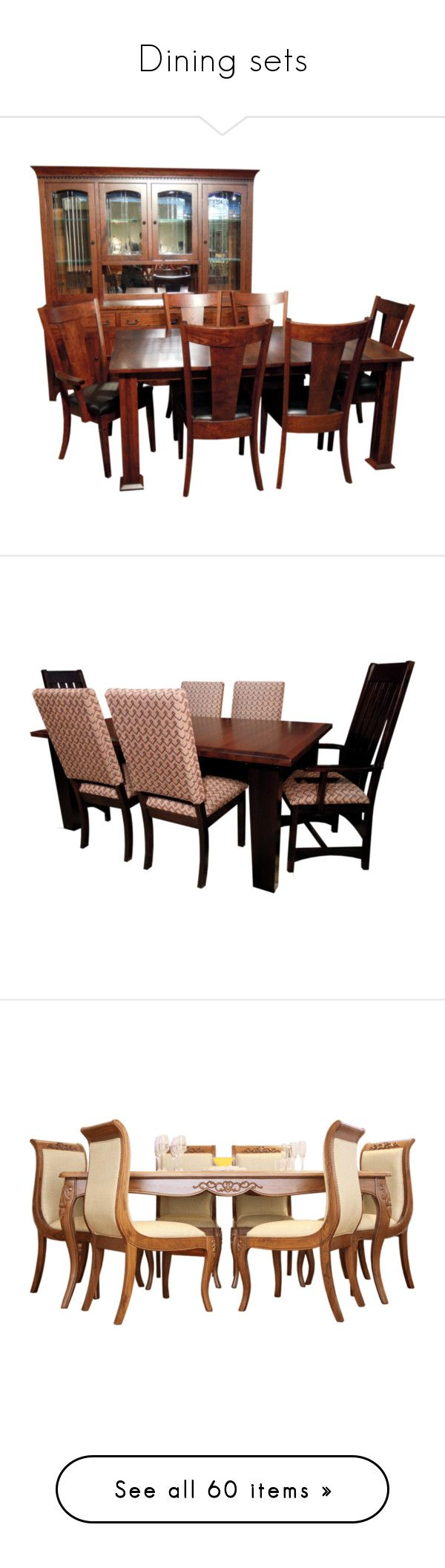 """Dining sets"" by colonae ❤ liked on Polyvore featuring dining, diningsets, DiningTables, home, furniture, shaker dining set, shaker furniture, shaker style furniture, glass table and chairs and glass furniture"