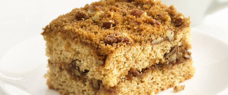 44% less fat • 55% less sat fat • 27% fewer calories than the original recipe. Coffee cake is still delicious with an update to canola oil and whole wheat flour.