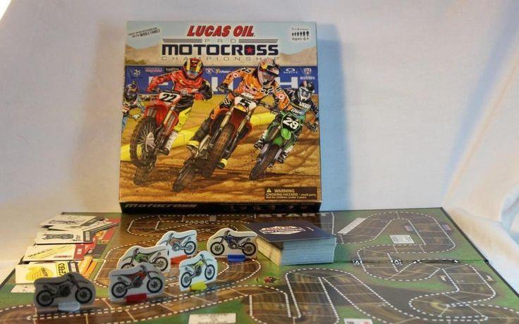 RARE Lucas Oil Pro Motocross Championship Racing Board Game Unplugged Dirt Bike #GoodOleGames