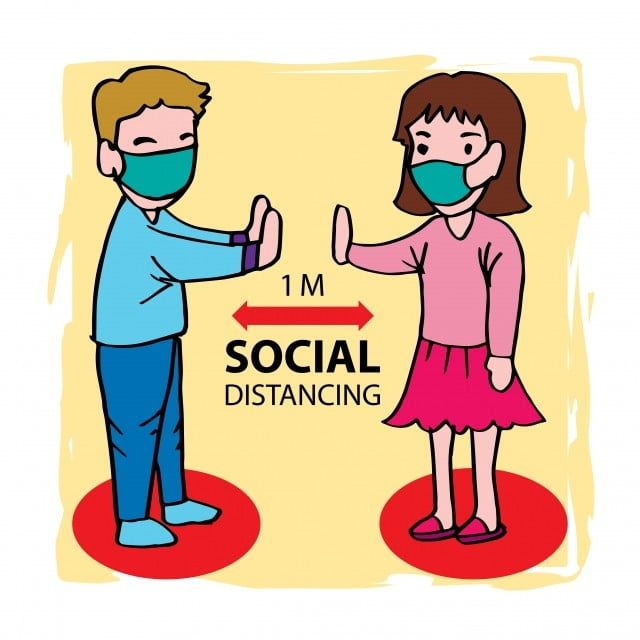Social Distancing Cartoon Of Man And Woman Keep Distance Man Clipart Away Bacteria Png And Vector With Transparent Background For Free Download Kartun Ilustrasi Adobe Illustrator