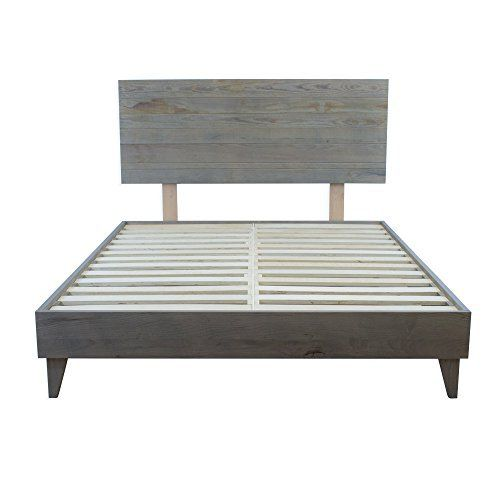 Eluxurysupply Wood Platform Bed With Headboard Solid Hardwood 100 Handmade By Amish