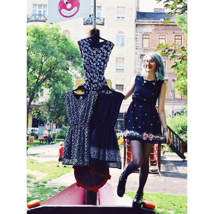 Ahoy ⛵️ #szputnyikshop #szputnyik #budapest #vintagestyle #summer #dress #newcollection #ss2016 #blackandwhite #floral #different #patterns #romantic #style #monochrome #streetstyle #playground