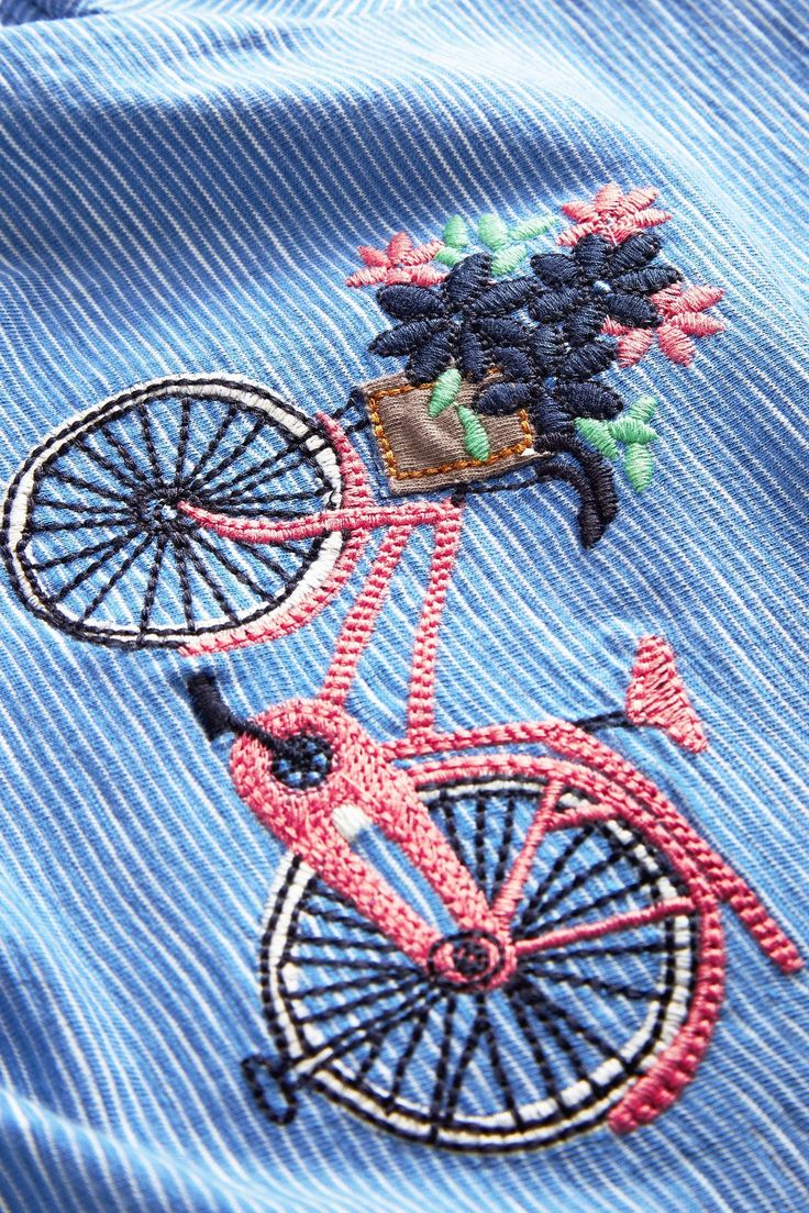 Buy Blue Bike Embroidered T-Shirt (3mths-6yrs) from the Next UK online shop