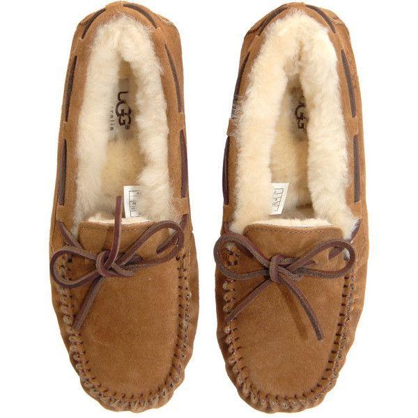 178f7e1637c Ugg Dakota Chestnut Furred Leather Moccasins ($115) found on ...