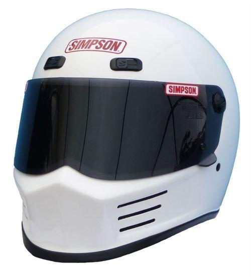 SIMPSON STREET BANDIT HELMET SNELL M2015 GLOSS WHITE XS-XXL - Simpson Racing
