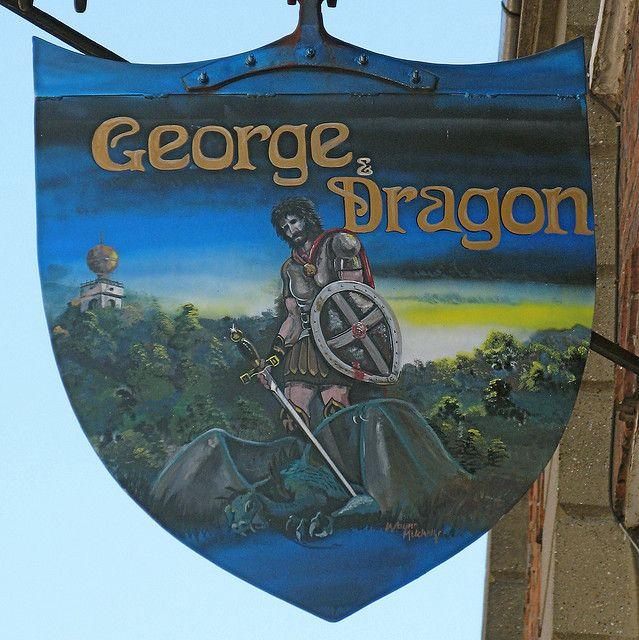 George & Dragon Pub Sign, West Wycombe