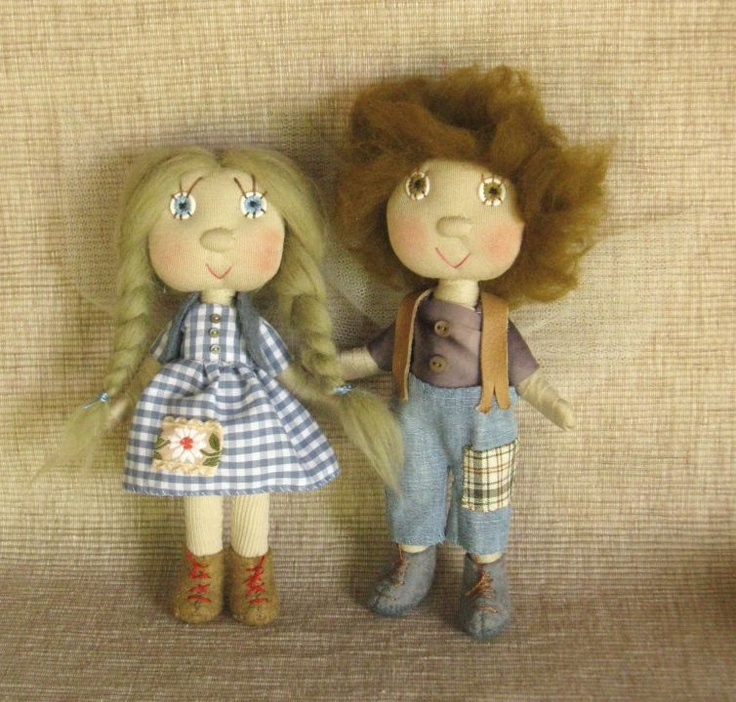 Tündértestvérek, Panni és Boldizsár, melyet Trili készített el http://www.breslo.hu/Trilli/shop